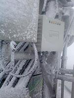 Lancom bevielio ryšio įrenginys žiemą lauke